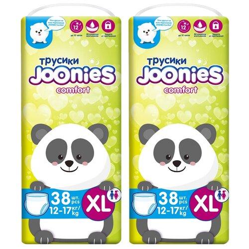 Фото - Joonies трусики Comfort XL (12-17 кг), 38 шт., 2 уп. joyo roy трусики двойные пятислойные р 100 13 17 кг 2 шт