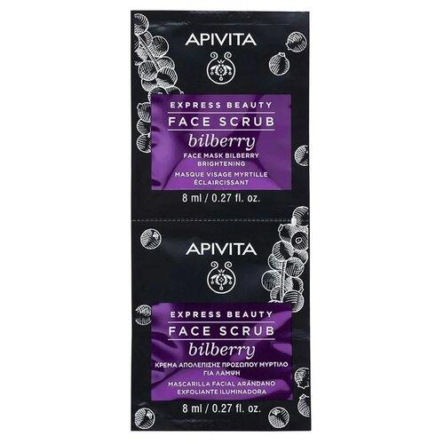 Купить Apivita скраб для лица Express Beauty Face Scrub с черникой 8 мл