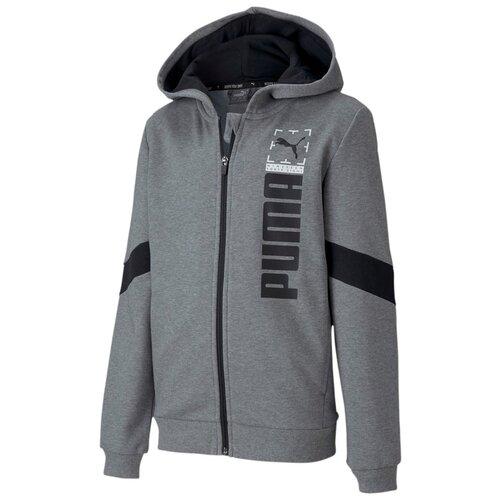 Фото - Толстовка PUMA размер S (128), medium gray heather шорты для мальчиков puma alpha размер 128 134