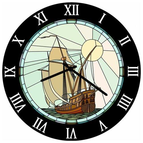 SvS Настенные часы SvS 3002833 Солнце и корабль