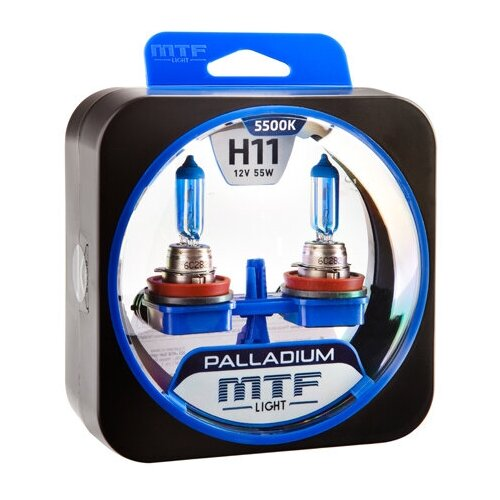 Галогеновые лампы MTF light Palladium 5500K H11 (2 лампы)