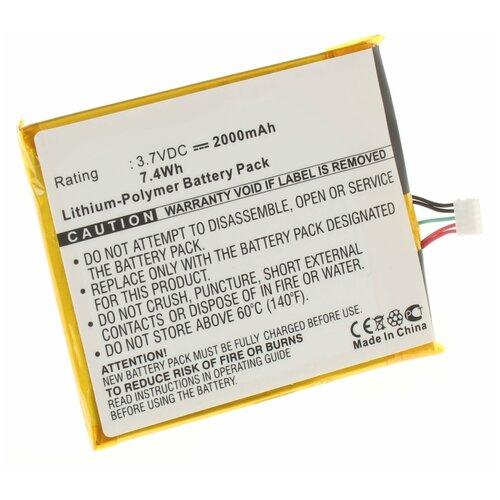 Аккумулятор iBatt iB-B1-M565 2000mAh для Philips AB2400BWMC,