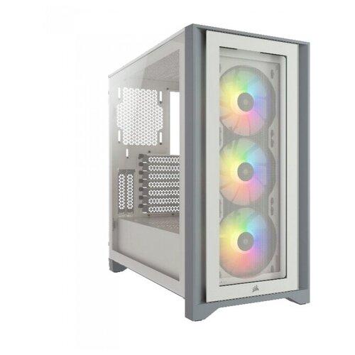 Корпус Corsair iCUE 4000X RGB CC-9011205-WW Tempered Glass Mid-Tower, White carbide series 678c cc 9011167 ww low noise tempered glass atx case black