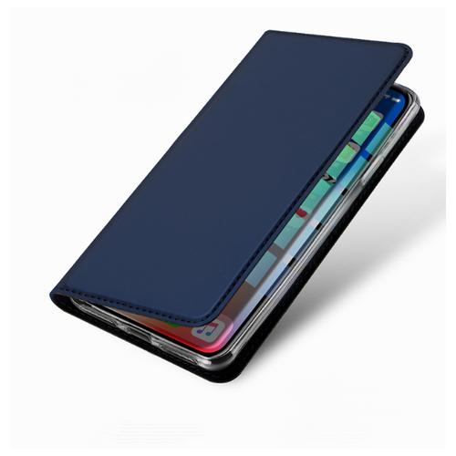 Чехол-книжка MyPads для iPhone 5 / 5S/ SE/ 5SE (Айфон 5/ 5С/ 5СЕ) водоотталкивающий с мульти-подставкой на жесткой металлической основе синий