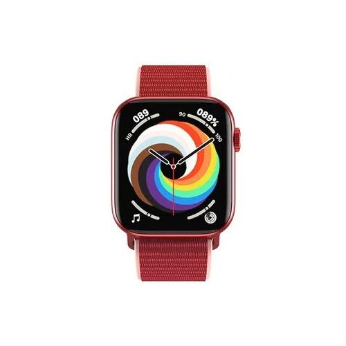 Умные часы IWO HW18 Series 6, два ремешка, 40мм, красные