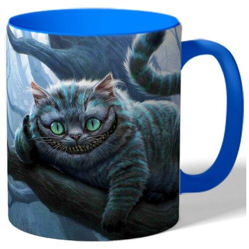 Кружка цветная с рисунком Чеширский кот
