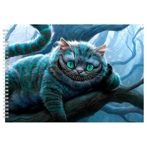 Альбом для рисования, скетчбук Чеширский кот