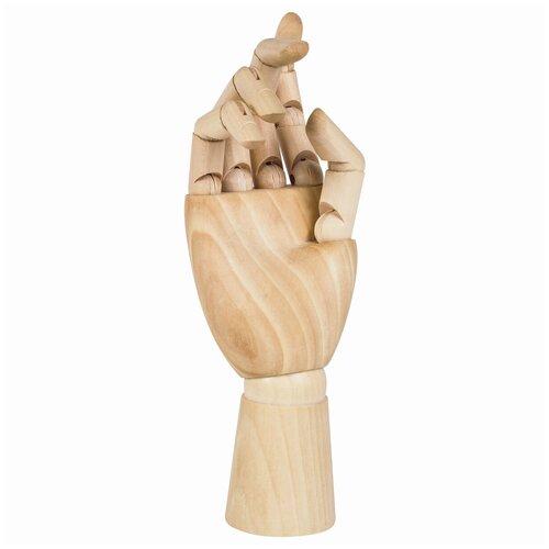 Манекен Brauberg Art Classic Рука, художественный, высота 25 см, женская правая, дерево манекен художественный невская