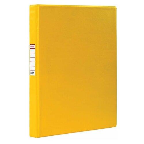 Фото - Папка на 2 кольцах BRAUBERG, картон/ПВХ, 35 мм, желтая, до 180 листов (удвоенный срок службы), 228381 brauberg папка на 2 х кольцах a4 картон пвх 35 мм синий