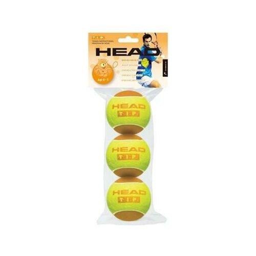 Мяч Head теннисный Head T.I.P Orange (Для детей) 3 Шт, -, желтый, любительский, клееный