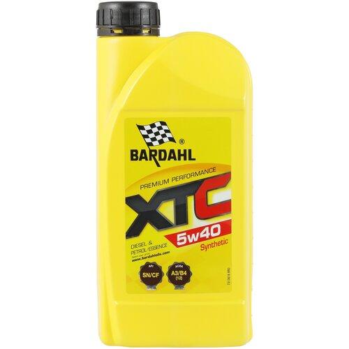 Фото - Синтетическое моторное масло Bardahl XTC 5W-40 Sn/Cf, 1 л синтетическое моторное масло bardahl xtc c60 off road 10w 40 1 л