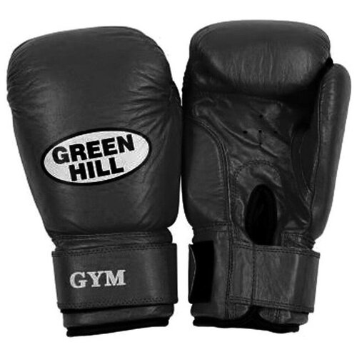 Боксерские перчатки Green hill Gym (BGG-2018) черный 12 oz боксерские перчатки green hill gym bgg 2018 синий 10 oz