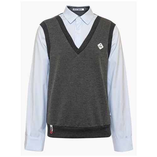Рубашка Nota Bene размер 122, темно-серый