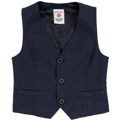Жилет Button Blue размер 116, синий