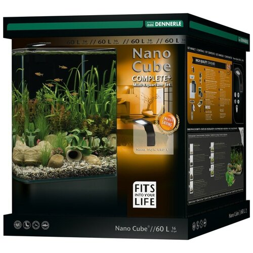 Аквариумный набор 60 л Dennerle NanoCube Complete+ 60 Style LED L черный аквариум dennerle nanocube 20 литров 1 шт