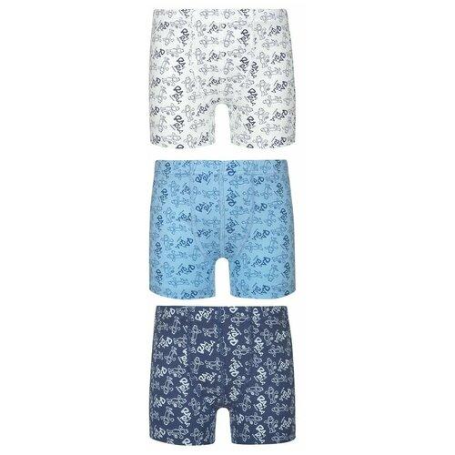 Трусы BAYKAR 3 шт., размер 158/164, молочный/голубой/синий, Белье и пляжная мода  - купить со скидкой