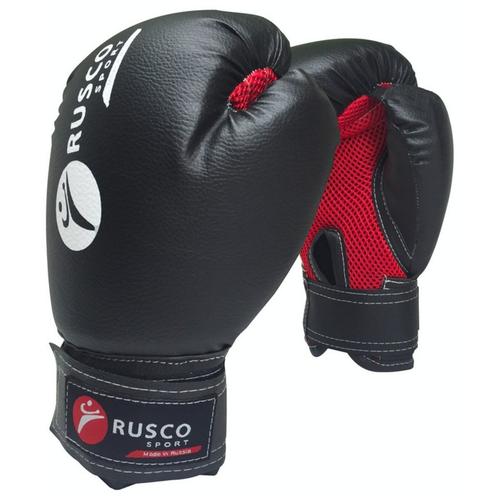 Перчатки боксерские Rusco, 8oz, к/з, черный