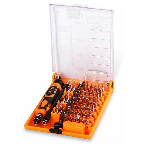 набор отверток jakemy jm p17 37 в 1 серый Набор отверток Jakemy JM-8150 (52 в 1) черный с оранжевым