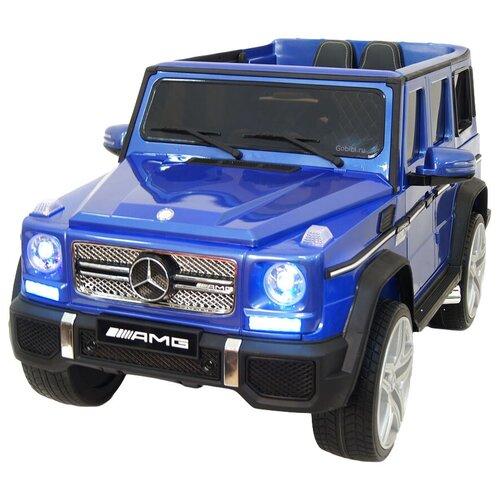 Купить RiverToys Автомобиль Mercedes-Benz G65 AMG 4WD, синий глянец, Электромобили
