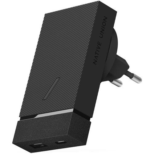 Фото - Сетевая зарядка Native Union Smart charger PD 18W, серый адаптер сетевой native union smart charger pd 45вт серый