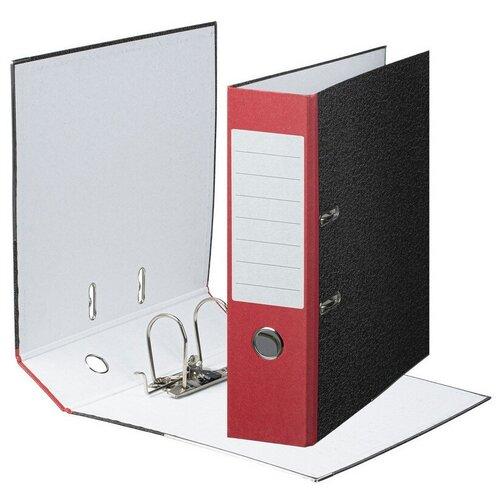 Фото - Папка-регистратор Attache Economy 80 мм, мрамор, с красным корешком, металлический уголок attache папка регистратор economy под мрамор 50 мм черный синий