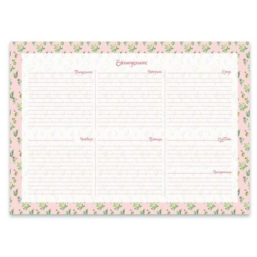 Планинг Феникс+ Цветущие кактусы недатированный, А4, 55 листов, цветущие кактусы
