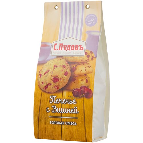 Фото - С.Пудовъ Мучная смесь Печенье с вишней, 0.35 кг с пудовъ мучная смесь печенье имбирное с цукатами 0 4 кг