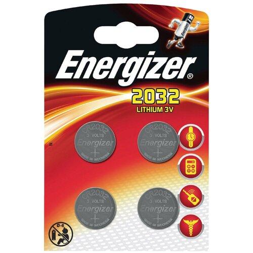 Фото - Батарейка Energizer CR2032, 4 шт. батарейка energizer max plus aa 4 шт