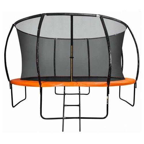 Фото - Каркасный батут DFC Trampoline Kengoo II 14FT-BAS-BO 427х427х265 см оранжевый/черный каркасный батут dfc trampoline kengoo ii 16ft bas bo оранжевый