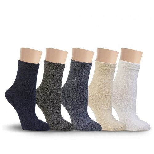 Носки женские LorenzLine В28 (ангора+шерсть), Джинс, 23 (размер обуви 36-37)
