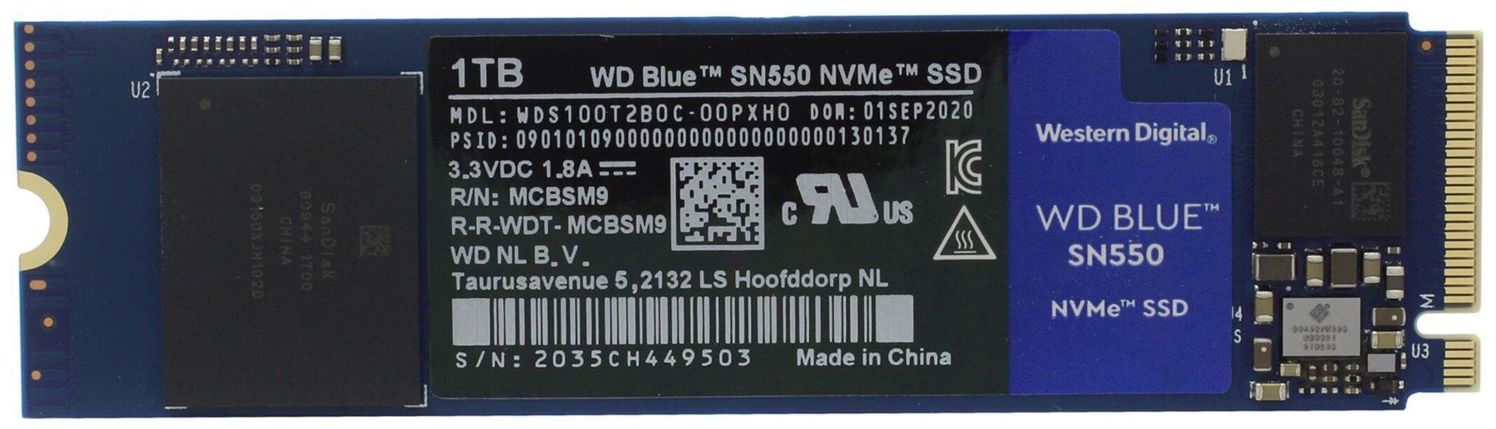 Твердотельный накопитель Western Digital 1000 GB WDS100T2B0C — купить по выгодной цене на Яндекс.Маркете