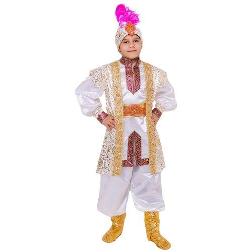 Купить Костюм пуговка Султан (2116 к-21), белый, размер 134, Карнавальные костюмы