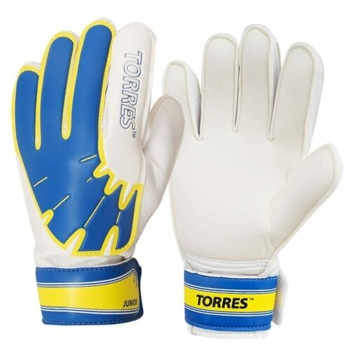 Перчатки TORRES размер 6, белый/желтый