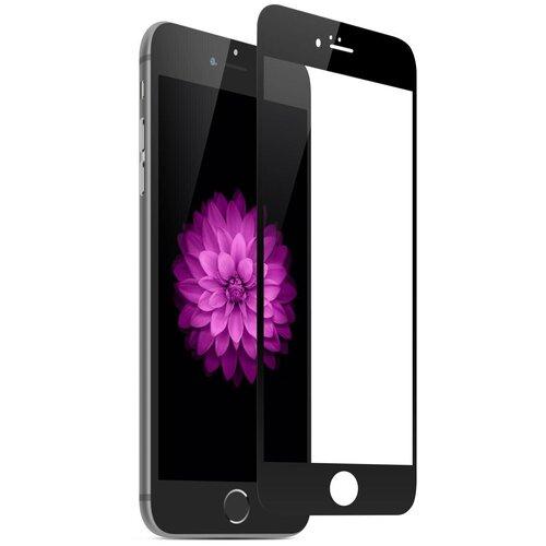 Полноэкранное защитное стекло для телефона Apple iPhone 6 и iPhone 6S / Ударопрочное стекло на смартфон Эпл Айфон 6 и Айфон 6С / Закаленное стекло с олеофобным покрытием на весь экран / Full Glue Premium Glass от 3D до 21D (Черный)