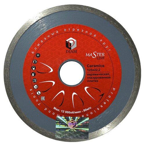 Фото - Диск алмазный отрезной DIAM Ceramics 197, 125 мм 1 шт. diam 030657 62 x 450 мм