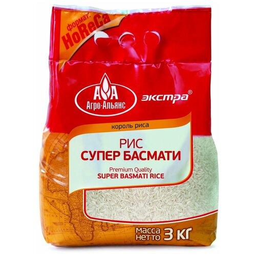 Фото - Рис Агро-Альянс Басмати длиннозерный пропаренный шлифованный 3 кг крупа рис агро альянс 5пак 80г длиннозерный