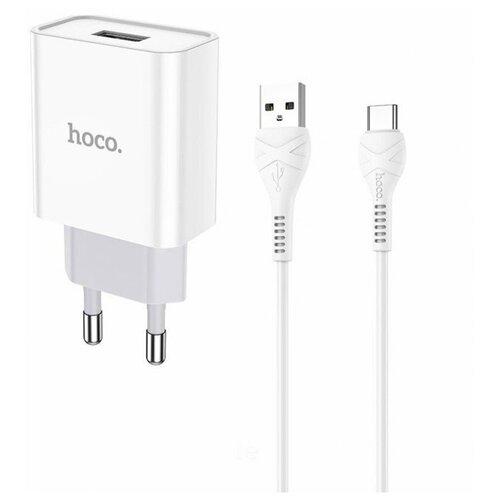 Фото - Сетевая зарядка Hoco C81A Asombroso + кабель USB Type-C, белый сетевая зарядка hoco c72a glorious кабель usb type c белый