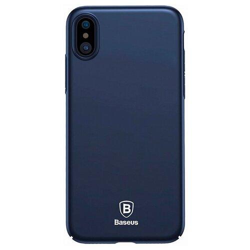 Фото - Чехол-накладка Baseus Thin Case для Apple iPhone X dark blue чехол накладка baseus thin case для apple iphone x black