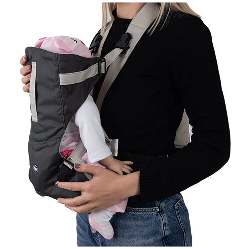 Эрго рюкзак кенгуру для ребенка Chicco EasyFit Серый