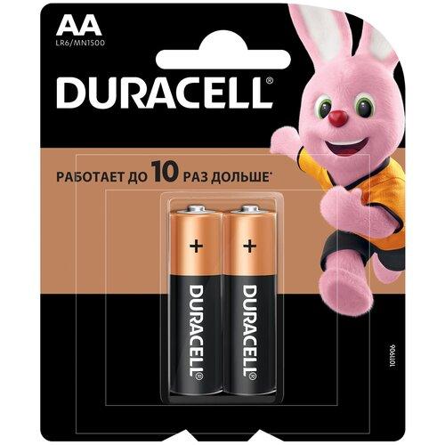 Фото - Батарейка Duracell Basic AA, 2 шт. батарейка energizer max plus aa 4 шт