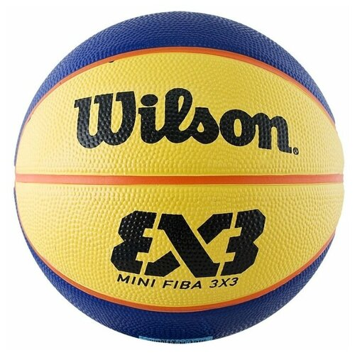 Баскетбольный мяч Wilson FIBA 3x3 Replica Mini, р. 3 синий/желтый