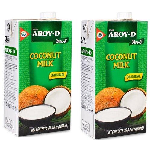 Фото - Молоко кокосовое Aroy-D Original 70% 17%, 1 л, 2 шт. aroy d масло 100% кокосовое extra virgin 0 18 л