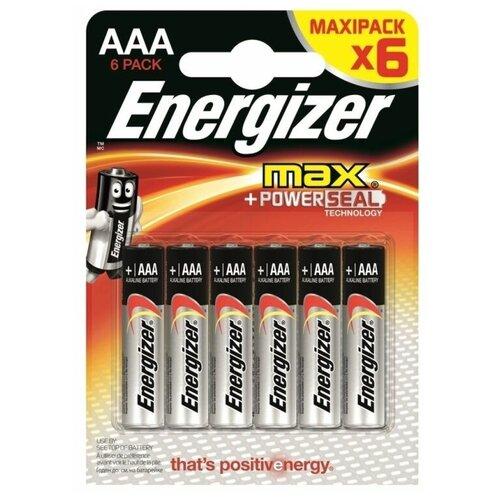 Фото - Батарейка Energizer Max AAA/LR03, 6 шт. батарейка energizer max aa lr6 6 шт