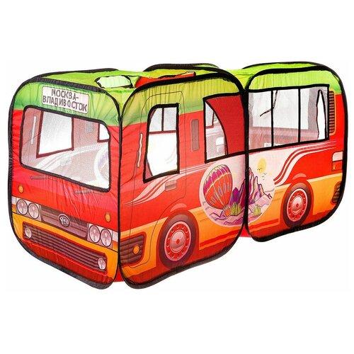 Палатка Yako Автобус Москва-Владивосток M7046, красный/зеленый