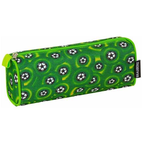 Фото - BRAUBERG Пенал-косметичка Футбольные мячи (223907) зеленый пенал косметичка brauberg тайм