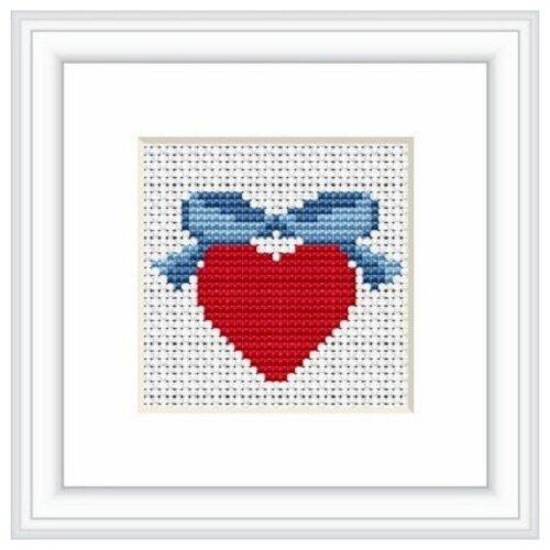 Купить Набор для вышивания «Сердце», 4, 5x6 см, Luca-S, Наборы для вышивания