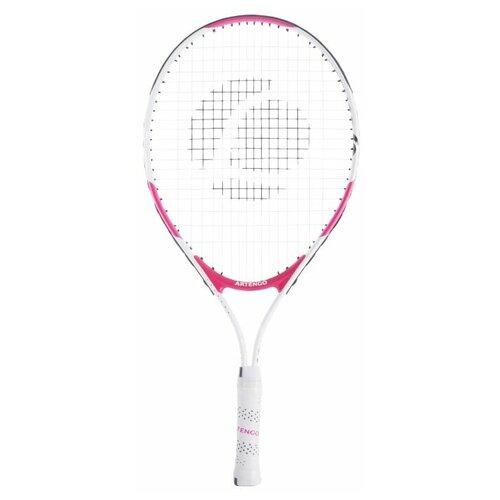 Ракетка для игры в большой теннис детская TR130 размер 23 Белый/Розовый ARTENGO X Декатлон