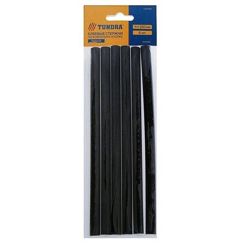 TUNDRA Клеевые стержни 11 х 200 мм по ковролину и коже, 6 шт 1290480