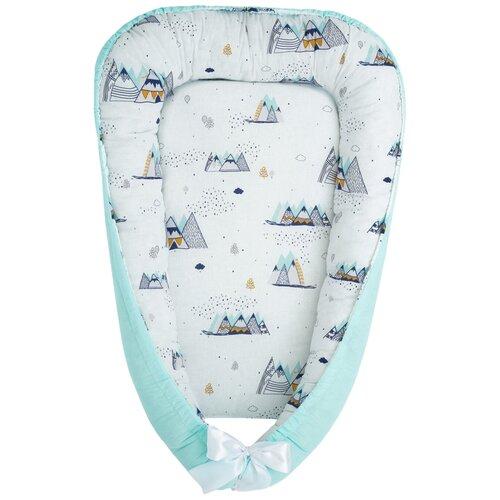 Фото - Позиционер для сна Amarobaby Little Baby белый/горы позиционер для сна amarobaby little baby серый белый мороженое