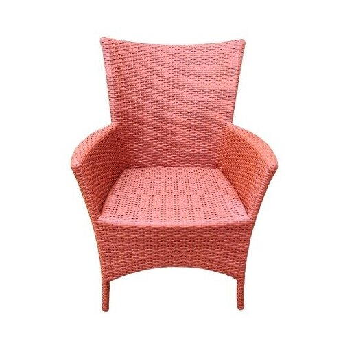 Кресло Кипр, плетеное из искусственного ротанга терракот